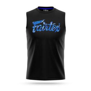Fairtex sleeveless camo logo t-shirt blue