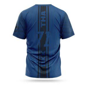 Fairtex sport t-shirt Thai stripes blue