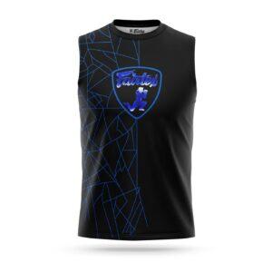 Fairtex sleeveless Lamborghini sport t-shirt blue