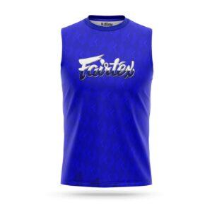 Fairtex sleeveless sport t-shirt pattern blue