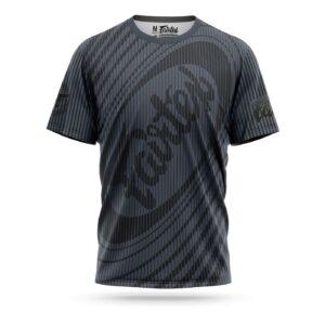 Fairtex sport t-shirt Thai stripes grey