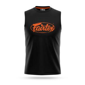 Fairtex sleeveless s-shirt black with orange logo