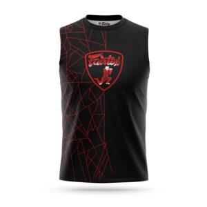 Fairtex sleeveless Lamborghini sport t-shirt red
