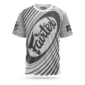 Fairtex sport t-shirt Thai stripes white