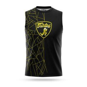 Fairtex sleeveless Lamborghini sport t-shirt yellow
